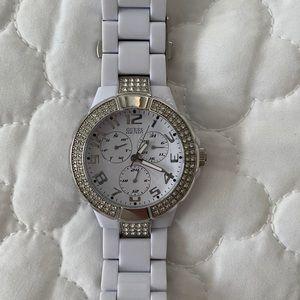White Guess women's watch